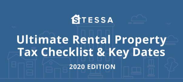 Real estate investor tax deadline checklist [2020 edition]