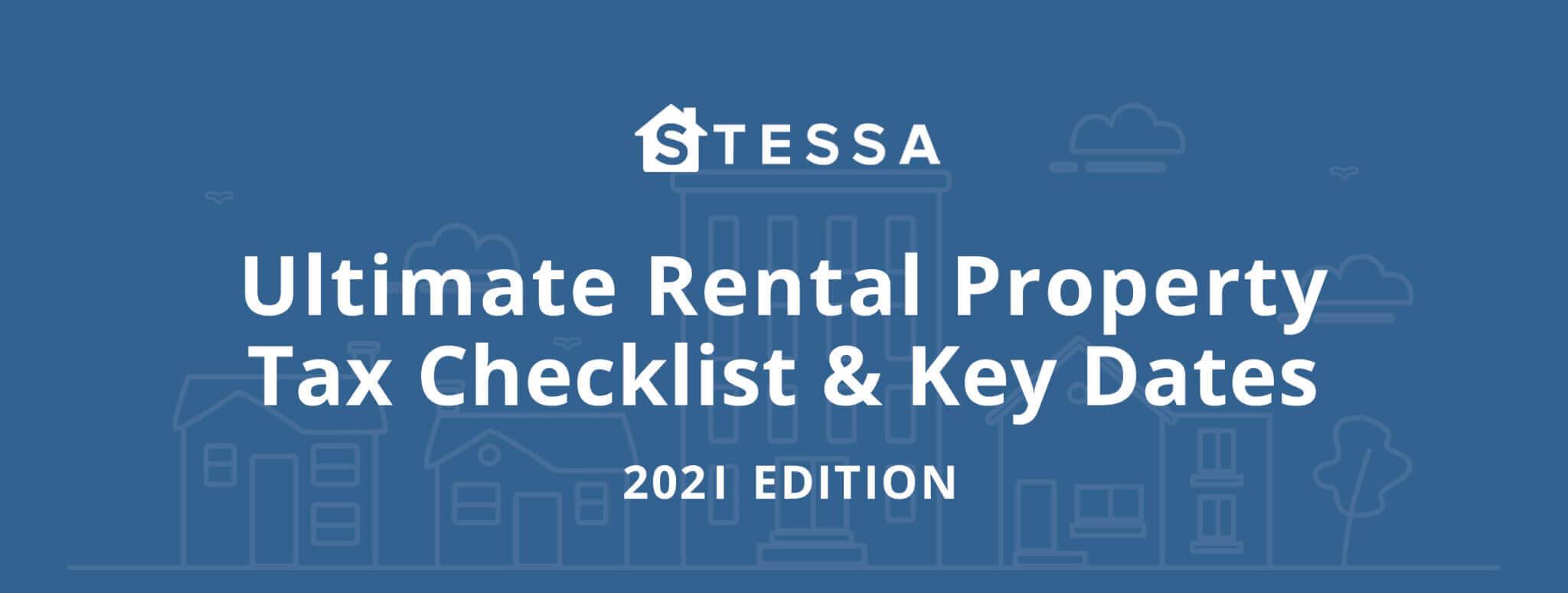 Key 2021 tax deadlines & check list for real estate investors