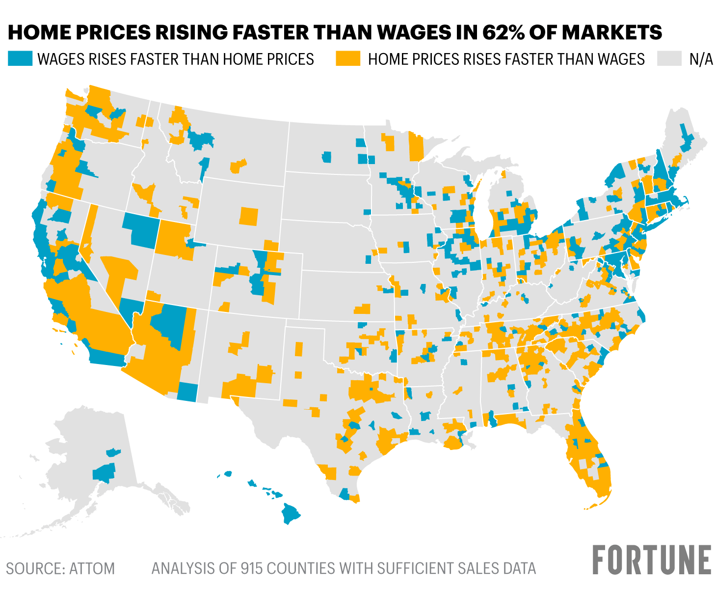 Home prices are rising faster than wages - Fortune