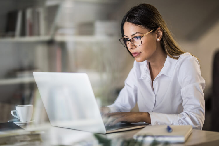 business woman working on computer 1
