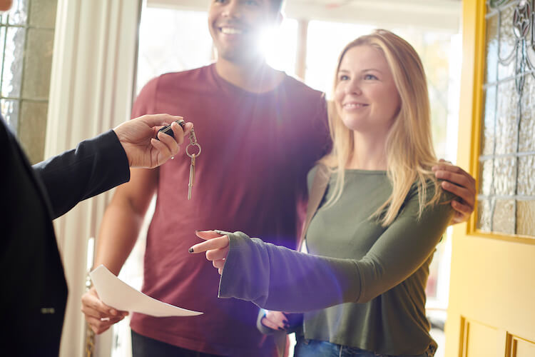 tenants receiving keys